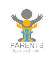 parents love care logo vector image