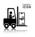 Logistic and forklift icon design vector image