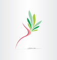 breast cancer healthy breast icon vector image