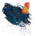Grunge Rooster vector image
