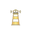 Lighthouse computer symbol vector image