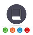 Photo frames template icon empty photography vector image