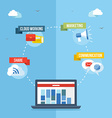 Social media network concept flat vector image