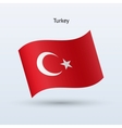 Turkey flag waving form vector image
