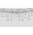 Transparent seamless drops vector image