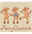 Reindeers Christmas card vector image