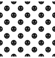 Calm smiley pattern simple style vector image