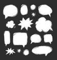 Handwriting set of speech bubbles vector image