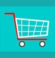 shopping cart flat icon vector image