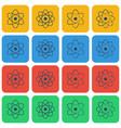 multicolored atom icon set vector image