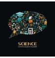science communication bubble vector image