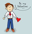 Be my Valentine cartoon vector image