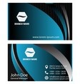 Blue business card template vector image vector image