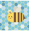 Bee in Blue Beehive vector image