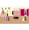 Clothing store Woman clothes shop and boutique vector image