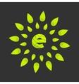 eco bin icon vector image