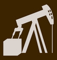 flat icon on theme arabic business oil derrick vector image