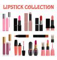 lipstick mockup set realistic style vector image