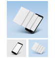 smartphone icon with blank screens vector image