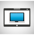 tablet pc technology laptop vector image