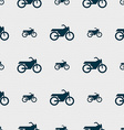 Motorbike icon sign Seamless pattern with vector image