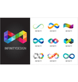 Colorful abstract infinity endless symbols and vector image