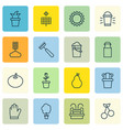 set of 16 agriculture icons includes duchess jug vector image