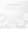 White paper flower postcard vector image vector image