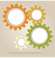Abstract color gear wheels vector image