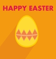 Flat easter egg with wishes on orange background vector image