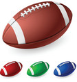 realistic american football on white background vector image