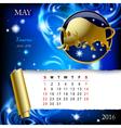 Zodiac Calendar page vector image vector image