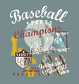 popular sport baseball vector image