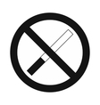 No smoking sign black simple icon vector image