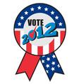 american election ribbon ballot vector image