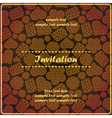 invitation card with sweet cookies vector image