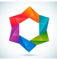 abstract shape - star vector image vector image