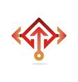 Logo design Hexa arrow perfect icon style vector image