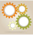 Abstract color gear wheels vector image