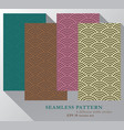 colorful seamless background pattern set vector image