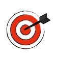 Dartboard target game vector image