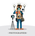 Super Equipment Photographer vector image