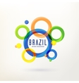 Brazilian abstract background with curcle vector image