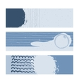Set of horizontal banners handdrawn decorated vector image