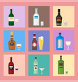 alcohol drinks beverages cocktail card drink vector image