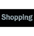 Diamond word shopping vector image vector image