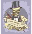 Roaring Twenties Skull label vector image