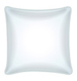 Decorative white throw pillow vector image