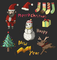 cute Christmas collection set vector image