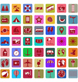 Summer holiday icon set vector image